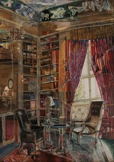 "Saatchi Online Artist: William Savage; Painting, 2011, Assemblage / Collage ""The Library"""