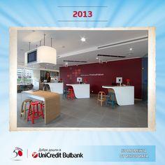 #50момента от историята: УниКредит Булбанк открива първия си филиал с концептуално нов дизайн, известен като Филиал на бъдещето!