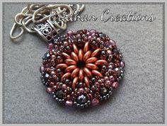 Mandala beaded pendant