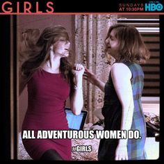 Dancing to Robyn's Dancing on My Own in the All Adventurous Women Do episode of Girls on HBO.