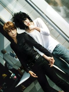 Death Note! Okay, so the charecters would not be so close to each other and holding hands, but the cosplay is amazing!