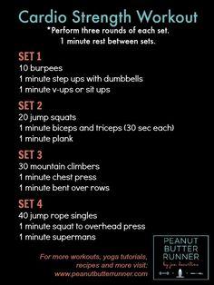 workout combining bodyweight cardio exercises with strength exercises.A workout combining bodyweight cardio exercises with strength exercises. Hiit, Amrap Workout, Tabata Workouts, Crossfit Leg Workout, Workout Circuit, Workout Fitness, Group Workouts, Pyramid Workout, Rowing Workout
