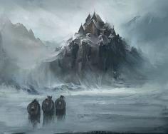 Fantasy Viking Village by Daazed-DA on DeviantArt Fantasy City, Fantasy Castle, Fantasy Places, Fantasy Kunst, High Fantasy, Fantasy Rpg, Medieval Fantasy, Fantasy World, Daily Fantasy