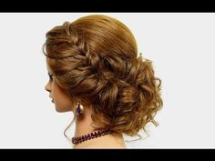 Hairstyle for long medium hair. Wedding prom updo - YouTube