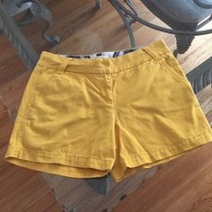 J. Crew Mustard Yellow City Fit Shorts Size 6 J. Crew City Fit Classic Twill Broken In Chino Shorts in mustard yellow, size 6. Rise is 9 J. Crew Shorts
