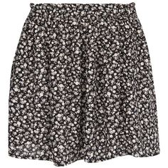 Mango Floral Printed Skirt, Black (105 RON) ❤ liked on Polyvore featuring skirts, bottoms, saias, faldas, floral circle skirt, flared floral skirt, floral skirt, floral printed skirt and mango skirt