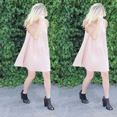 We only have two left of the blush t-shirt dresses! Only $34.99! #shoplbvb #LBVB #love #dress #tshirt #lastcall