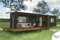 Esta casa de 30m² é muito versátil, composta por 1 banheiro de 2,75m², 2 quartos de 8,50m² e 5,80m² e uma cozinha de 9,30m², acomoda perfeitamente uma família pequena, dois amigos ou uma pessoa que busca independência e deseja morar sozinho. Indicado para zonas urbanas, rurais ou universitárias.