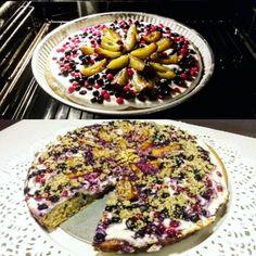 SUGARFREE PIE. #sugarfree #sugarfreepie #pie #rieflour #curdcheese #blueberry #walnuts #fitlifestyle #fit #healthy #healthyfood #brekfasttime #breakfast