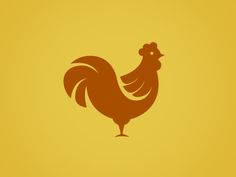 I really enjoy the simplicity and minimalism of the rooster's form -- rooster