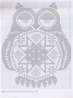 owl cross stitch. I want to make this!