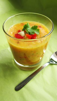 This mango gazpacho from Vegangela has earned a spot on my Spanish dinner party menu. It's simple to make, has lovely flavors, and is raw, vegan, and gluten-free---all the good stuff I try to think about when planning dinner party menus. It will likely find its way down my gullet on myriad other occasions---like tomorrow, for dinner. Just because.