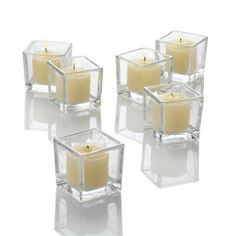 "Set of 72 Eastland Square Votive Holders & 72 Ivory Unscented Richland Votive Candles by Richland. $67.99. (72) Ten Hour Richland® Votive Candles. Perfect for Weddings & Other Events. 100% Cotton Wicks. Smokeless and Clean Burning.. (72) Thick Square Eastland® Glass Votive Holders!. Highest Quality. Candles Are Made in USA.. Set of 72 Square Eastland Votive Holders and 72 Unscented Richland Votive Candles. Square Holders Size: 2.0"" Tall x 2.0"" Wide. Unscented Ri..."