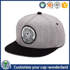 5b3645b4267 Custom Embroidered Patch Cap Brands 5 Panel Grey Hemp Snapback Hats  Wholesale China Prouducts