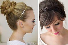 Peinados de novia con trenza en recogidos  #bodas #elblogdemaríajosé #peinadonovia #trenza