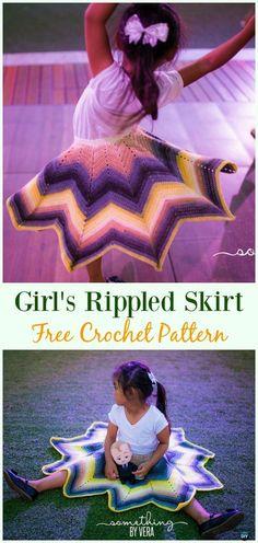 Crochet Rippled Skirt Free Pattern - #Crochet Girls #Skirt Free Patterns