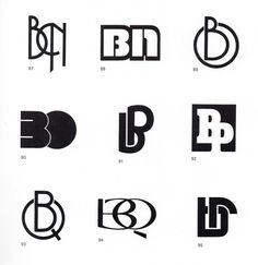 "'B"" - Vintage German Design - An Alphabet of Monograms (Via Priebe & Correct) Logo Typo, Logo Branding, Typography, Lettering, Document Iconographique, Alphabet, Islamic Art Calligraphy, Caligraphy, Logo Design"