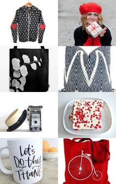 Red And Black Gifts by ILONA on Etsy--Pinned with TreasuryPin.com