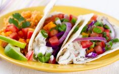 Grilled Tilapia Tacos With Pico De Gallo. This healthy and low cal taco recipe packs a huge flavor punch that you'll be coming back for again and again. Spicy, fresh, cool, acidic. It's all here!