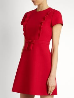 REDValentino Bow-front crepe mini dress