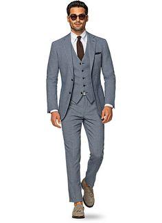 Suit Blue Birds Eye Havana P5107 | Suitsupply Online Store