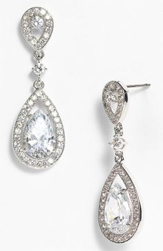 Nadri Teardrop Drop Earrings (Nordstrom Exclusive) available at #Nordstrom
