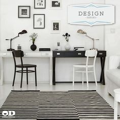 His and Her Office Space  Home Office  Pinterest