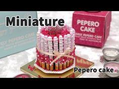 미니어쳐 빼빼로케이크, 보노보노 스틱초코릿, 리본볼 초코송이 만들기 Miniature Pepero Cake & BonoBono Chocolate.. - YouTube