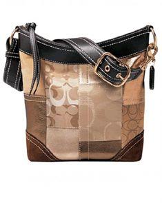 4a613bb7ac1 Coach Holiday Gold Patchwork Crossbody  Designerhandbags Coach Purses