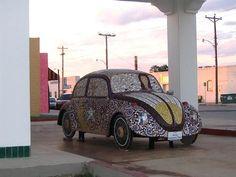 mosaic vw beetle