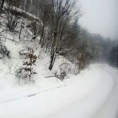 Snowy, scenic, roads like these 😊 Snow Scenes, Winter Scenes, Winter Magic, Instagram Widget, Its Cold Outside, Silent Night, Let It Snow, Cold Day, Winter Wonderland