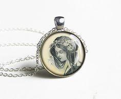 Handmade flora necklace pendant charm jewelry