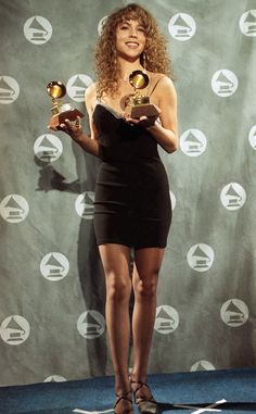 Mariah Carey-1991 from Grammys Red Carpet Look Back | E! Online