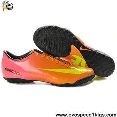 Sale Discount Nike Mercurial Vapor IX TF Pink Orange Yellow Football Shoes Store