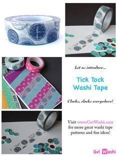 Meet Tick Tock Washi Tape, www.GetWashi.com, $1.97/roll