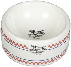 Creature Comforts Bistro Round Dish - Red, White and Navy Vintage Dog - Small ** Check this awesome product by going to the link at the image. (This is an affiliate link and I receive a commission for the sales) #MyPet