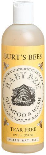 Burt's Bees Baby Bee Shampoo & Wash, Tear Free, 12-Ounce Bottles (Pack of 3) by Burt's Bees. $35.83. Rinse, then lather and repeat on baby's hair and scalp.. Create a lather and gently wash your baby's entire body, avoiding the eyes.. Coconut Oil - The flesh of the coconut is rich in emollient fat and when pressed, yields a white, sweetly-scented, super-moisturizing oil, which is a solid at room temperature but easily melts on the skin. This all-in-one wash is a natural, tea...