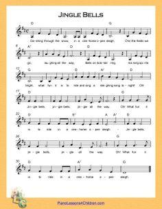 Jingle Bells in D major - easy piano/violin music