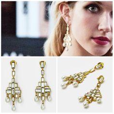 Pearls defines Royalty wid Simplicity. Elegant hangings.
