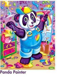 Art Print: Panda Painter by Lisa Frank : All Poster, Cool Posters, Disney Precious Moments, Lisa Frank Stickers, Cellphone Wallpaper, My Spirit Animal, 90s Kids, Custom Framing, Birthday Parties