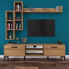 Ideas Ikea Storage Living Room Tv Stands For 2019 Tv Unit Decor, Tv Wall Decor, Wall Tv, Tv Wall Units, Bookcase Wall, Tv Unit Furniture, Modern Furniture, Rustic Furniture, Bedroom Furniture