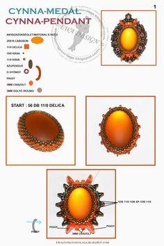Ewa beaded World: Cynna pattern pendant / pendant pattern Cynna befoglalás