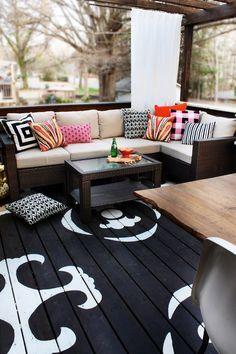 DIY painted deck