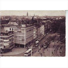 PC of Krefeld, Blick uber Ostwall und Innenstadt - Used - Fair Cond (230214)