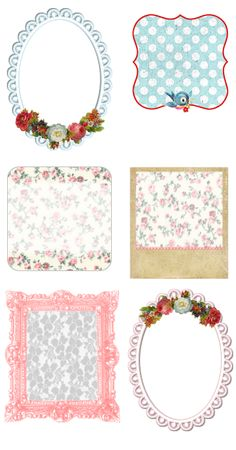 Shabby Blogs: Vintage Freebie with Keren - Assortment of Pretty Blog Buttons