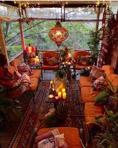 Imagine relaxing on this porch enjoy a cool bevera Bohemian House Decor bevera Bohème Cool ENJOY Imagine porch relaxing