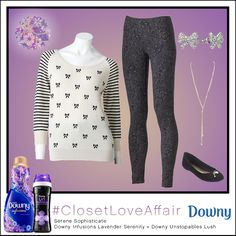 This Serene Sophisticate look was inspired by Downy Infusions Lavender Serenity and Downy Unstopables Lush. Pair stripes and bows to make you feel serenely sweet. To shop this look, visit the LC Lauren Conrad collection available only at Kohl's. To register for the #ClosetLoveAffair sweepstakes visit https://downy.promo.eprize.com/pinterest/.