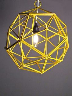 Modern Lines Vintage Finds Home Decor Gifts By Pivothandmade Yellow Parkpendant Chandelierlight Fixtureslight