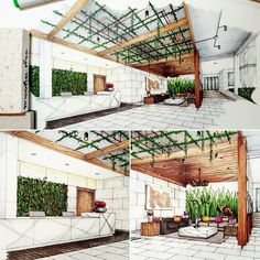 Instagram 上的 Tama Vajrabukka:「 🌳✍ An unnamed hotel at Pakchong ✍🌳 #sketch #handdrawing #perspective #lobby #hotel #design #interior #interiordesign #interiorsketch… 」