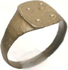 Ancient Roman Antiochia Pagan Christian Evil Eye Ring, AD350